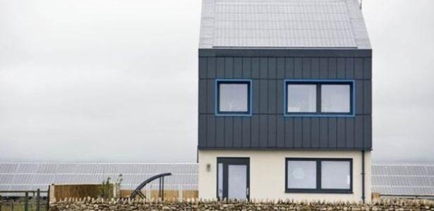 Casa tem emissão zero de gases causadores do efeito estufa segundo pesquisadores - Divulgação BASF/ BBC