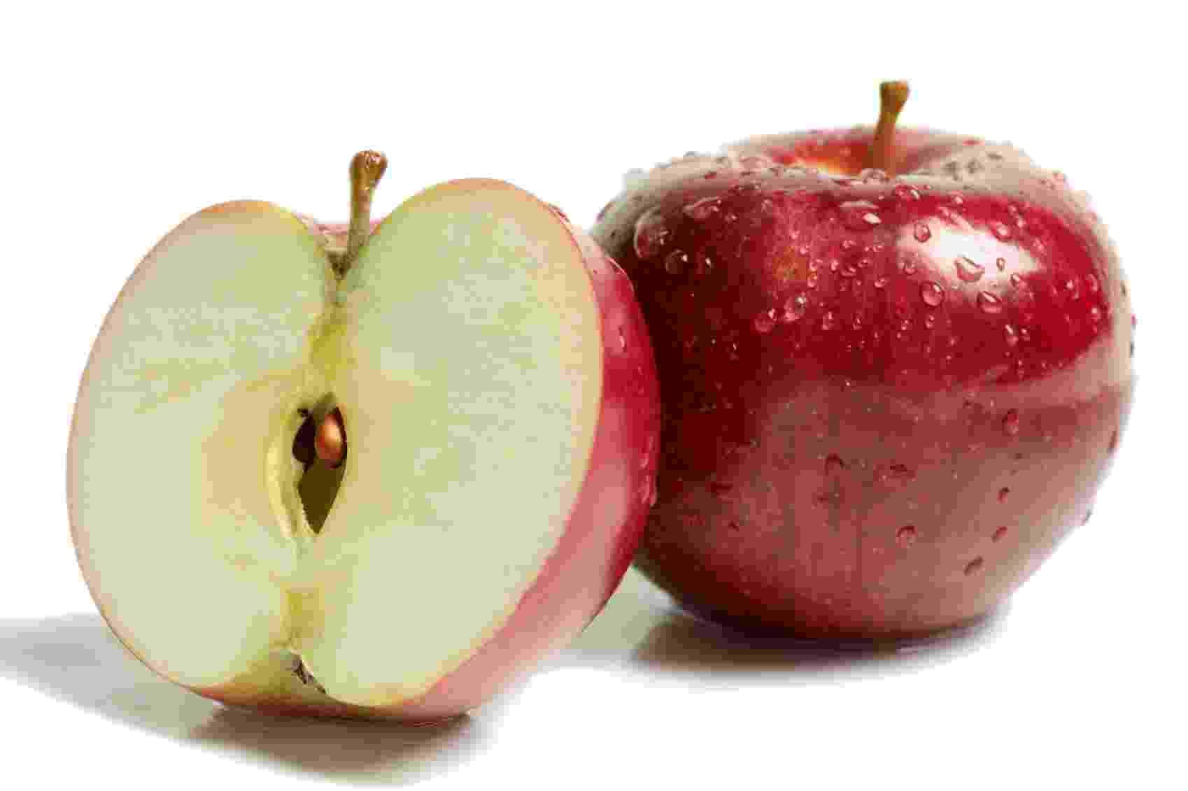 Existem milhares de cultivares de macieiras distribuídas pelo mundo, mas algumas dezenas são cultivadas extensivamente. As mais importantes pertencem aos grupos ?Golden Delicious?, ?Gala?, ?Fuji? e ?Red Delicious?, responsáveis por aproximadamente 70% da produção mundial: - Getty Images