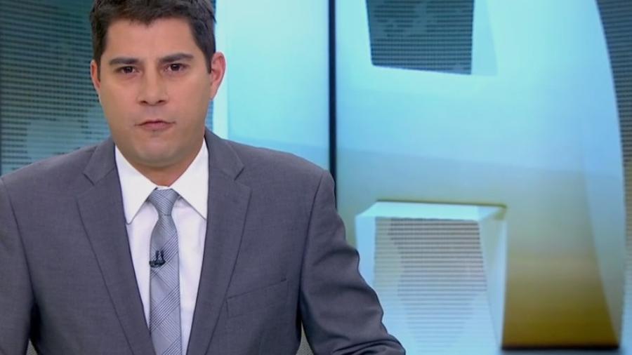 "Evaristo Costa apresenta o ""Jornal Hoje""  - Reprodução/TV Globo"