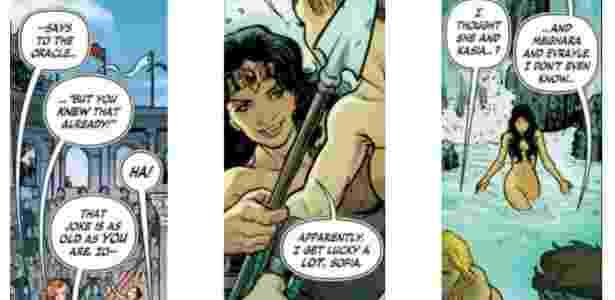 """Nova HQ de """"Mulher Maravilha"""" sinaliza que heroína teve um caso com a personagem Kasia - Reprodução"""
