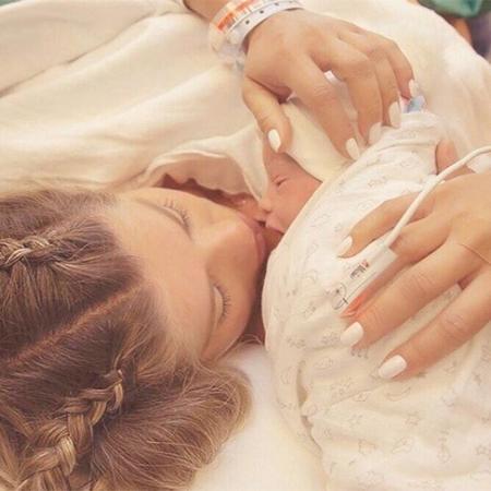 Karina Bacchi deu à luz Enrico nesta quarta (9) - Reprodução/Instagram
