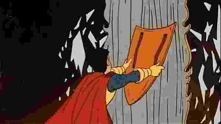 Eric quebra o espelho no episódio A Caverna das Fadas-Dragão - Reprodução - Reprodução