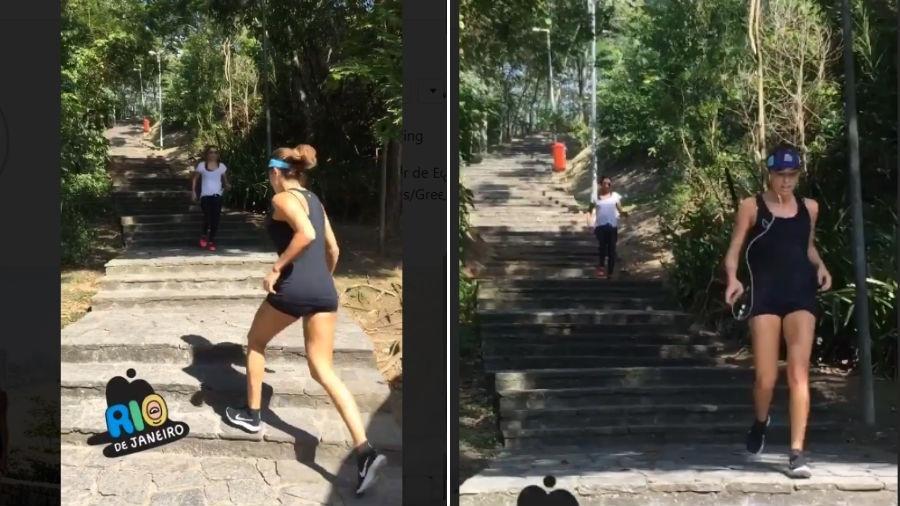 Anna Lima e Grazi Massafera fazem exercícios juntas - Reprodução/Instagram