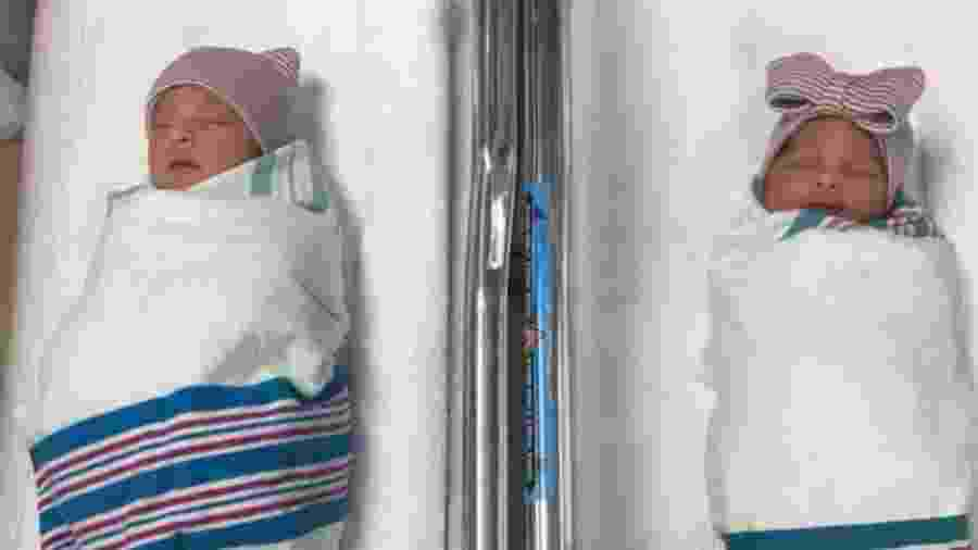 Joaquin e Aitana, os gêmeos que nasceram em anos diferentes - Reprodução/Twitter