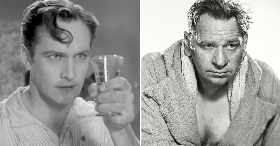 """À esquerda, Fredric March em cena em """"O Médico e o Monstro"""" (1931). À direita, Wallace Beery em cena em """"O Campeão"""" (1931)"""