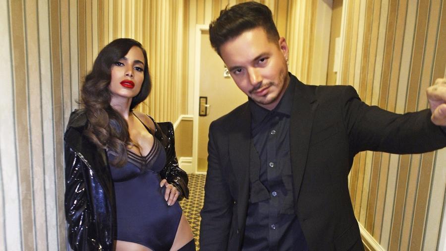 Anitta e o parceiro musical  J Balvin - Divulgação