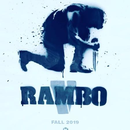 """Cartaz do filme """"Rambo V"""", divulgado por Sylvester Stallone - Reprodução"""