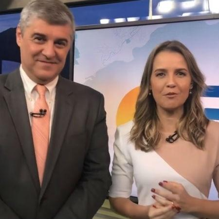 Silvana Ramiro comemora sua volta à TV ao lado do amigo Flávio Fachel - Reprodução/Instagram