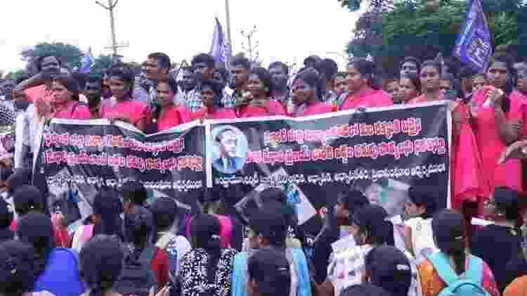 Grupos de dalits têm demonstrado apoio a Amrutha - Reprodução/Facebook - Reprodução/Facebook
