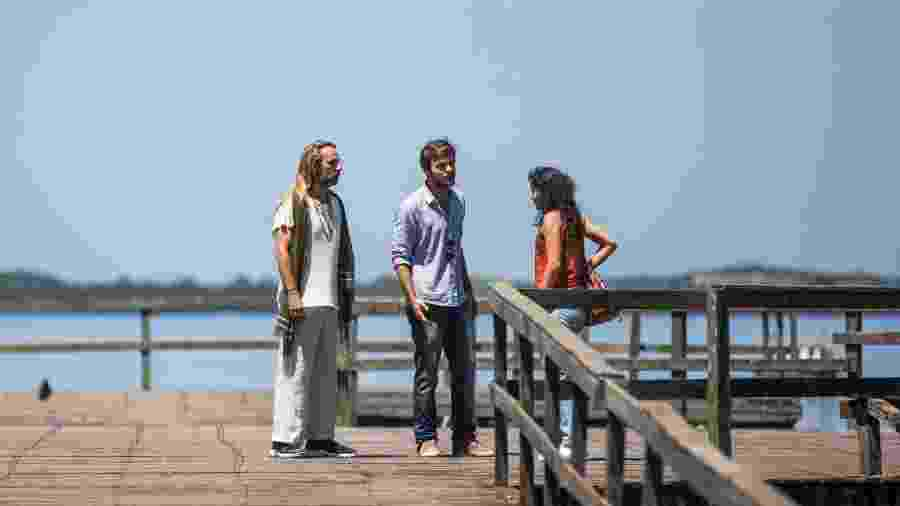 Beto (Emilio Dantas) descobre que Emily (Lucélia Pontes) é uma farsa  - Victor Pollak/Globo