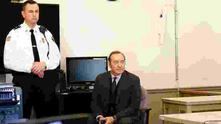 O ator Kevin Spacey, que permaneceu calado diante da corte em Nantucket - Nicole Harnishfeger/AFP