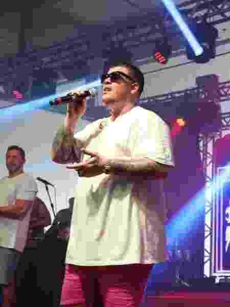 O cantor Ferrugem se apresentou normalmente ontem, no Rio - Julio Cesar Guimarães/UOL