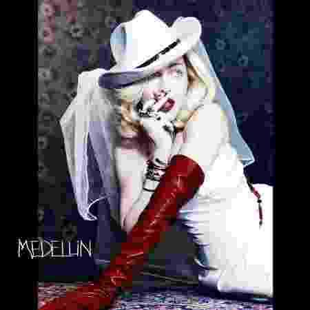 "Madonna na capa de ""Medellín"" - Reprodução/Instagram"
