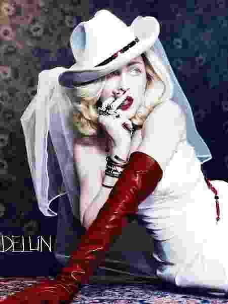 """Madonna na capa de """"Medellín"""" - Reprodução"""