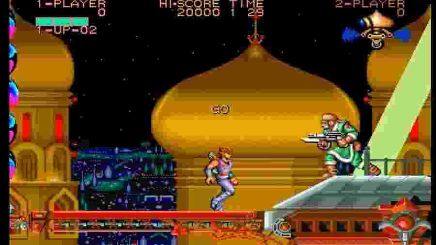 Strider foi lançado em 1989,  apresentando um ninja do futuro em um jogo de plataforma 2D - Reprodução