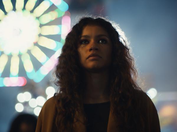 Zendaya como Rue em Euphoria, série da HBO
