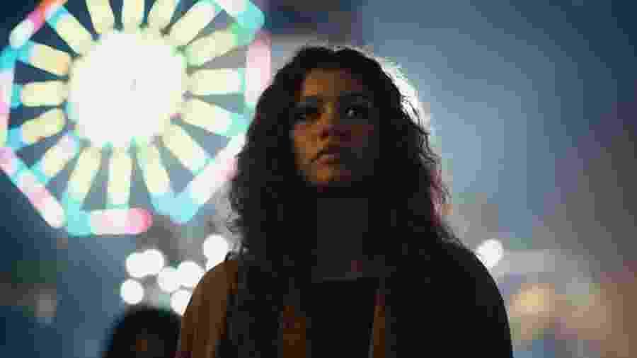 Zendaya como Rue em Euphoria, série da HBO - Divulgação