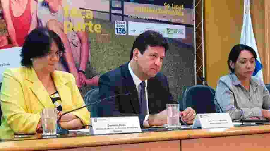 Os ministros Damares Alves e Luiz Henrique Mandetta - Pedro Paulo Souza/ASCOM MS