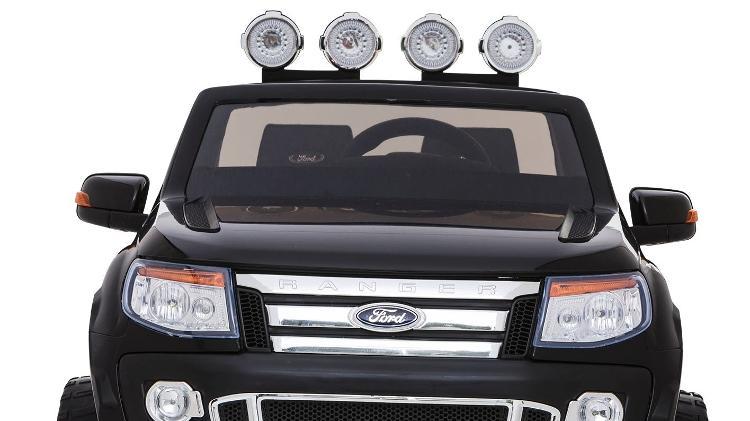 Já pensou em uma picape Ford Ranger sem capota? Ela existe em versão elétrica para crianças - Divulgação