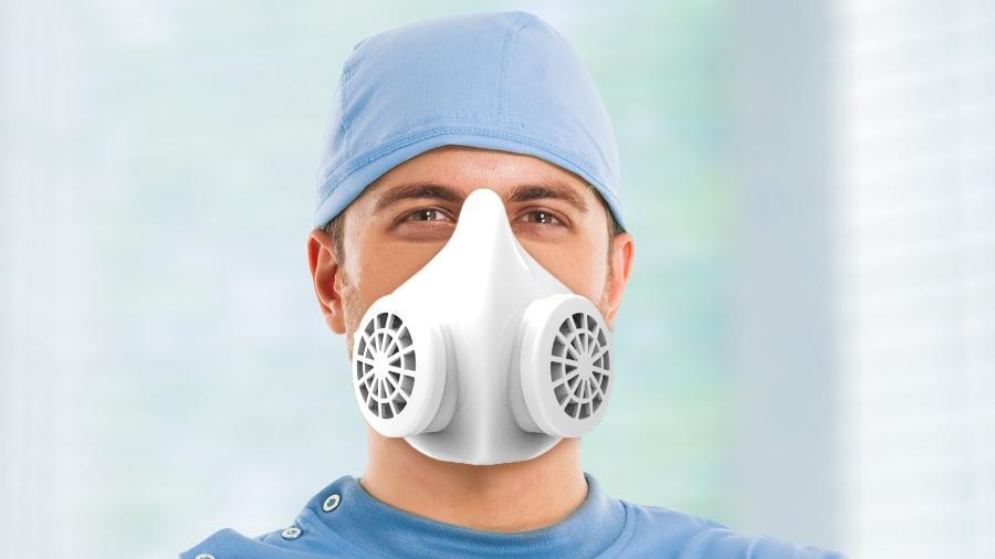 Modelo Oto: máscara diminui descarte de máscaras no ambiente e é de fácil higienização, promete fabricante - Divulgação/Nanox