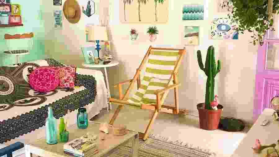 Cara de praia com muitas soluções feitas pelo casal: essa é a Casa Rosada - Reprodução/Instagram