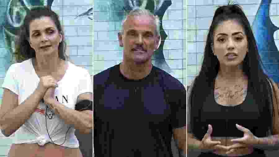 A Fazenda 2020: Luiza Ambiel, Mateus Carrieri e MC Mirella estão na sexta roça - Reprodução/Playplus