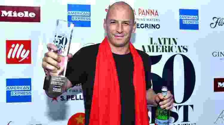 Pablo Rivero na premiação dos The World's 50 Best - Divulgação - Divulgação