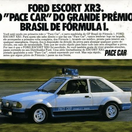 Ford Escort XR3 Pace Car Badolato - Reprodução - Reprodução