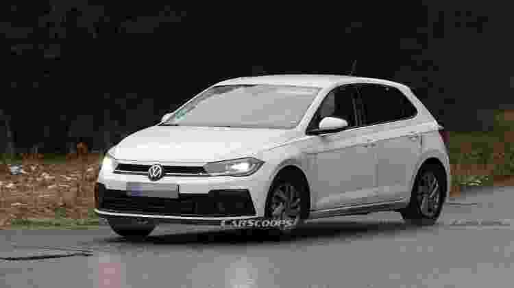 Flagra novo Volskwagen Polo - Reprodução/Carscoops - Reprodução/Carscoops