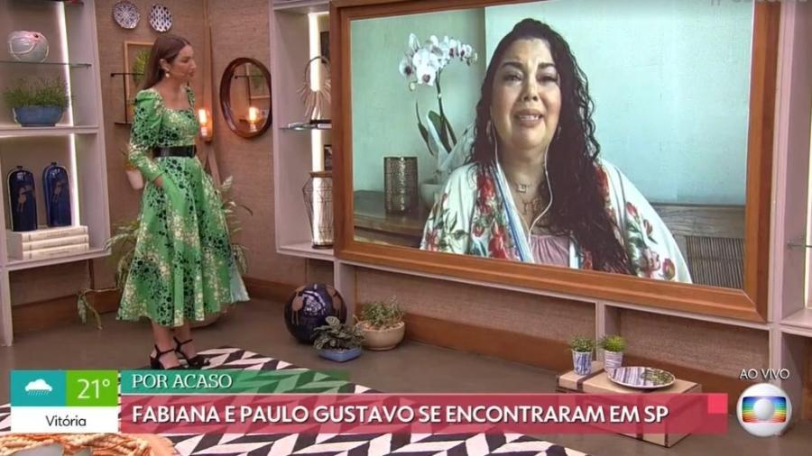 Fabiana Karla chora ao falar de Paulo Gustavo - Reprodução Globo