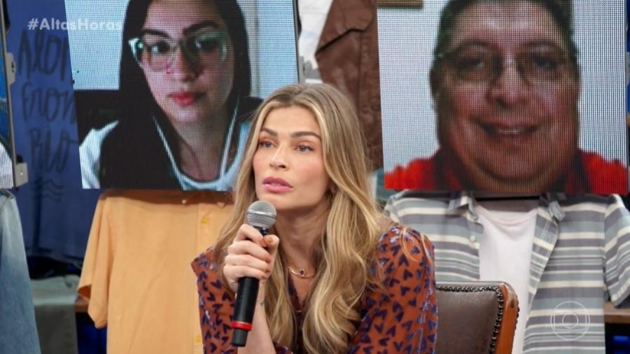 """Grazi Massafera no """"Altas Horas"""" - Reprodução Globo"""