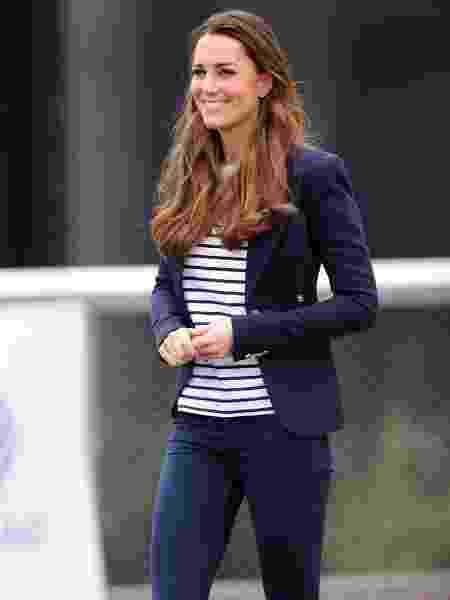 Kate Middleton, a duquesa de Cambridge, usando uma marinière - Getty Images - Getty Images