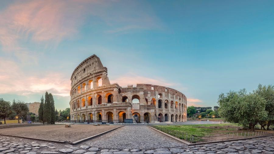 Coliseu, em Roma: capital italiana é considerada a cidade mais suja do mundo pelos seus moradores - Getty Images