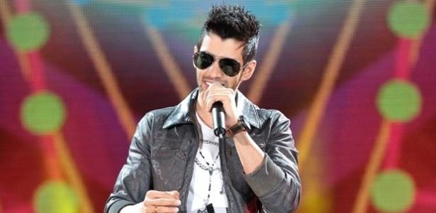 "O cantor Gusttavo Lima durante o ""Sintonize"" de 2014"