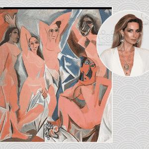 """""""Uma coisa na casa que gosto muito são meus livros, mas se pudesse escolher uma peça dos sonhos seria um Picasso. Imagina ter um quadro dele numa parede inteira! É um dos meus artistas preferidos e adoraria poder acordar com ele todos os dias"""", Mariana Weickert, apresentadora e modelo - Reprodução/ Manuela Scarpa/ Photo Rio News/ Arte UOL"""