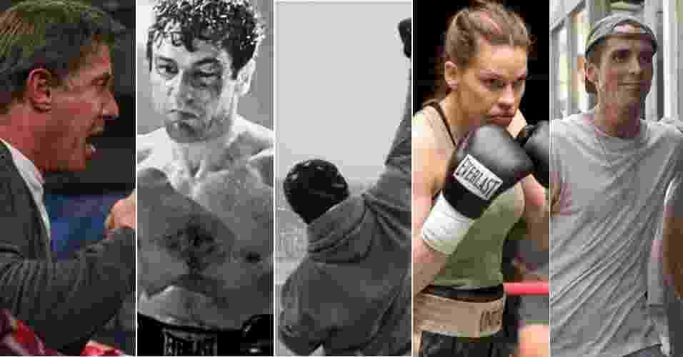 Montagem com imagens de filmes de boxe - Divulgação