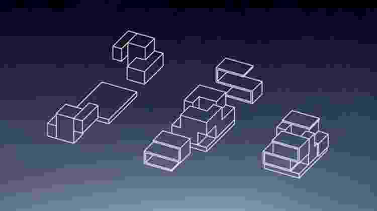 """A casa é formada por blocos como o do jogo """"Tetris"""" - Estudio OBA - Estudio OBA"""