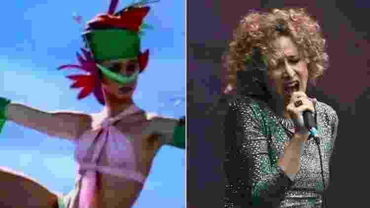 """Katia Bronstein em 1987, no """"Fantástico"""", e atualmente - Montagem/Reprodução/TV Globo/Facebook/Katia B - Montagem/Reprodução/TV Globo/Facebook/Katia B"""