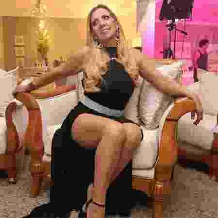 Rita Cadillac no set de filmagem do primeiro videoclipe da carreira - Divulgação