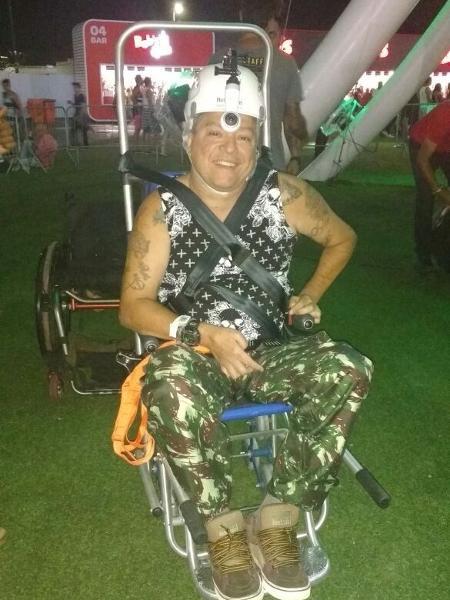 O pedagogo e artista plástico Jefferson Maia, 53, elogia adaptações para cadeirantes no Rock in Rio - Giselle de Almeida/UOL
