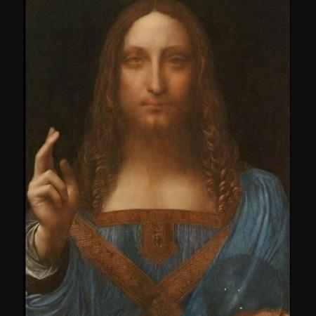 """""""Salvador Mundi"""", pintada por Leonardo Da Vinci - Reprodução"""
