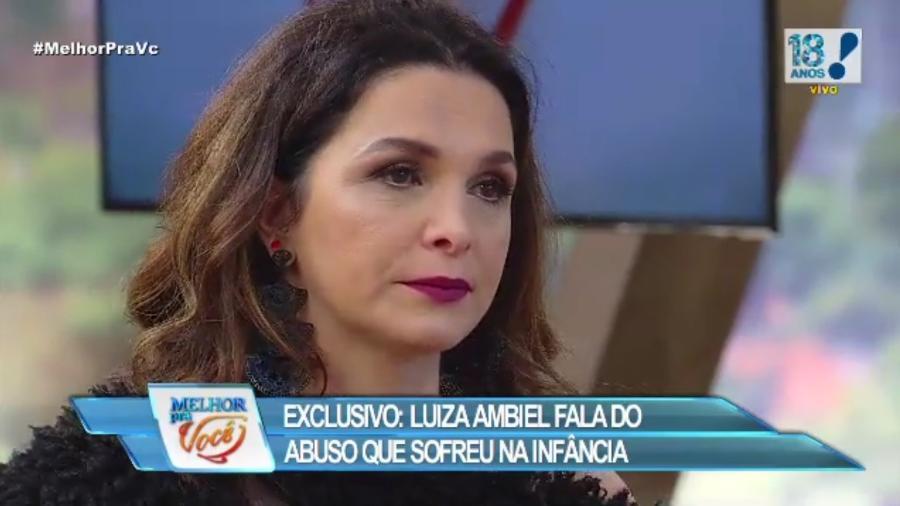 Luiza Ambiel chora ao revelar abuso sexual na infância - Reprodução/RedeTV!