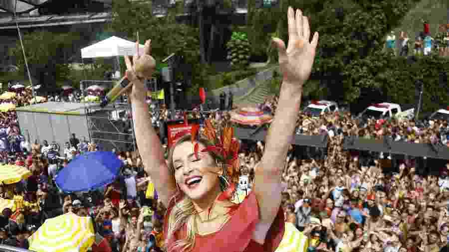 Claudia Leitte estreia com o Bloco Largadinho no Carnaval de São Paulo, na av. 23 de Maio - Guilherme Zauith/UOL