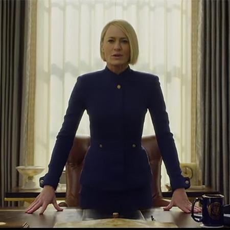 """Cena de Robin Wright (Claire Underwood) na última temporada de """"House of Cards"""" - Reprodução"""