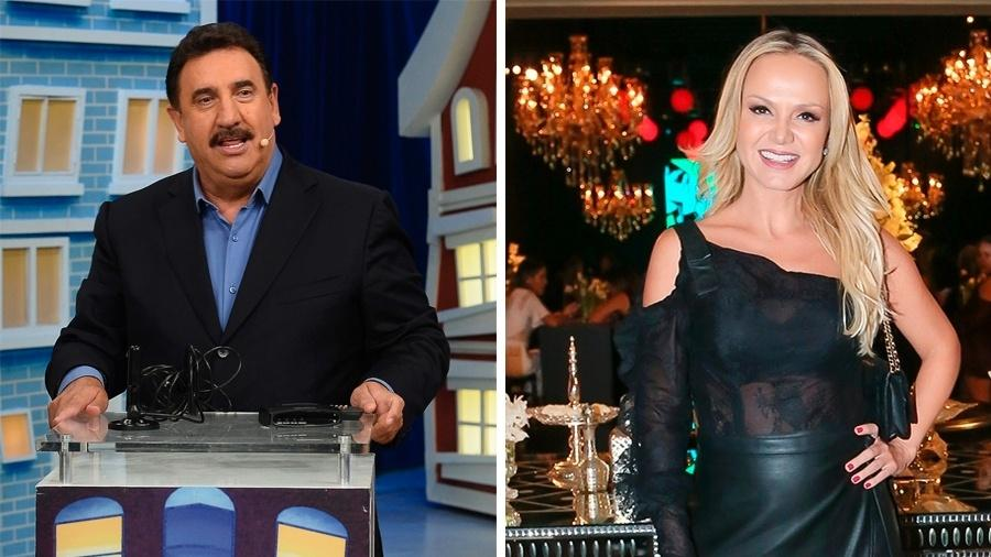 Os apresentadores do SBT Ratinho e Eliana - Reprodução / SBT / Ag News