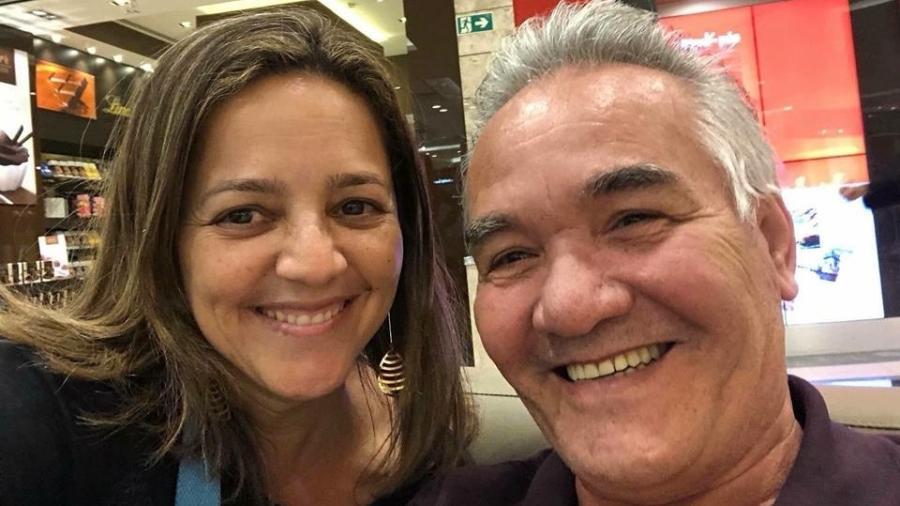 """Elisabete e o seu """"papito"""", Manoel - Arquivo Pessoal"""