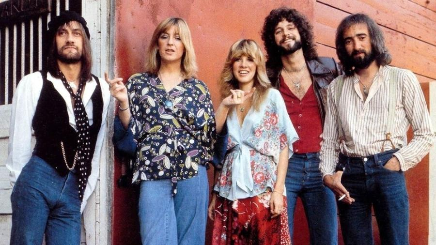 Mick Fleetwood, Christine Mcvie, Stevie Nicks, Lindsey Buckingham e John Mcvie - Reprodução