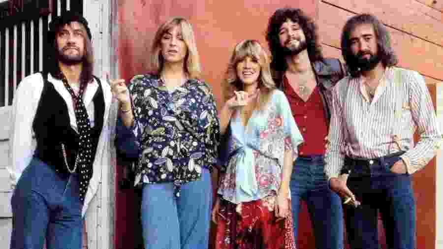 Mick Fleetwood, Christine Mcvie, Stevie Nicks, Lindsey Buckingham e John Mcvie - Reprodução