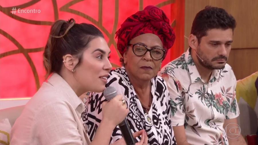 """A cantora Naiara Azevedo e a escritora Vilma Piedade no """"Encontro"""" - Reprodução/TV Globo"""