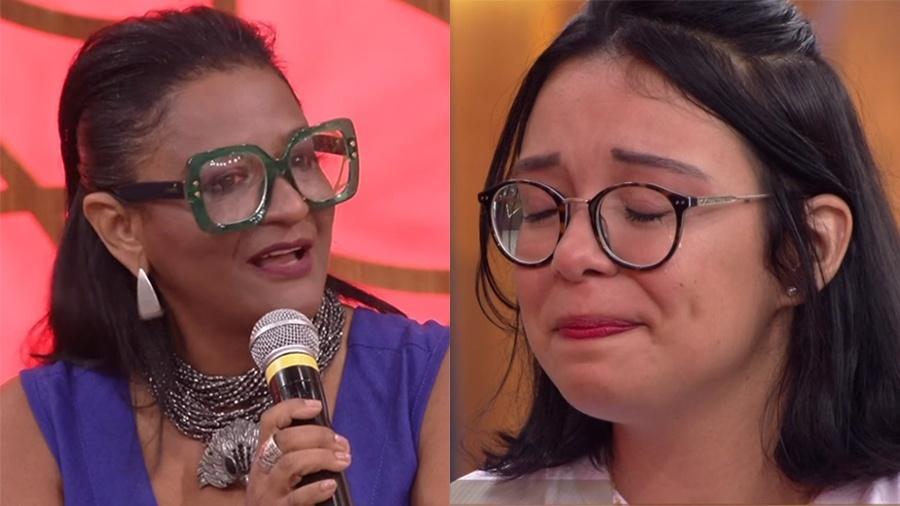 """Claudia Di Mauro se emociona no """"Encontro"""" com relatos de abusos sofridos pela jovem Eva  - Reprodução/Globo"""